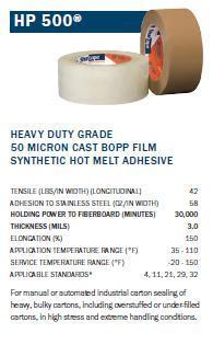 Shurtape HP-500 Packaging Tape: Heavy Duty Grade-TapeMonster