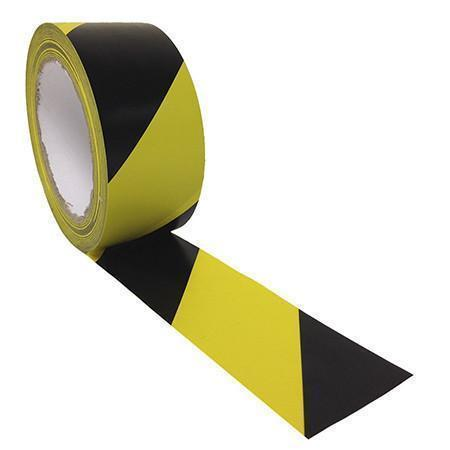 SST-736 Safety Tape: Yellow & Black Vinyl Tape (Adhesive Tape Products)-TapeMonster