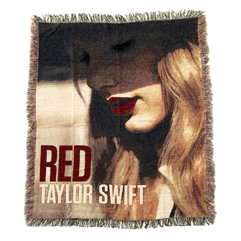Taylor Swift Rare Collectible: Limited Edition Red Album Woven Blanket