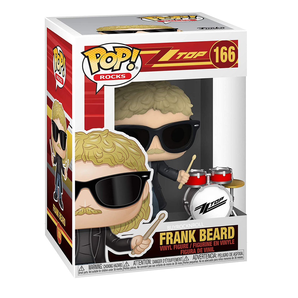 ZZ Top Collectible 2020 Funko Pop! Rocks 3 Figures in Protector Display Cases