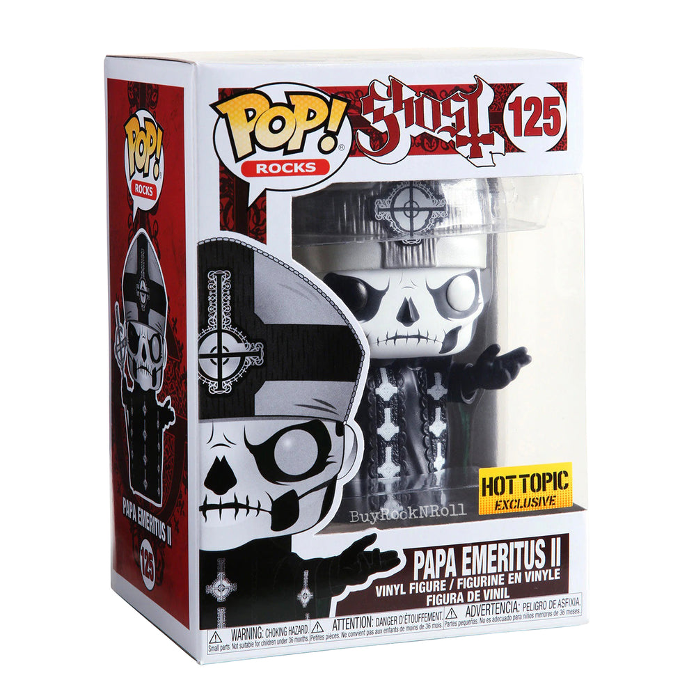 Ghost Collectible: 2019 Funko Pop! Rocks Papa Emeritus II Figure #125 in a Stacks Display Case