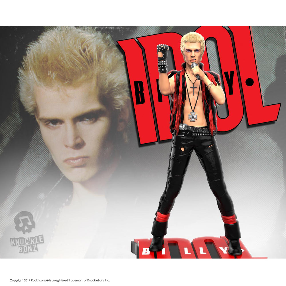 Billy Idol Collectible 2018 KnuckleBonz Rock Iconz Statue - Out of Production