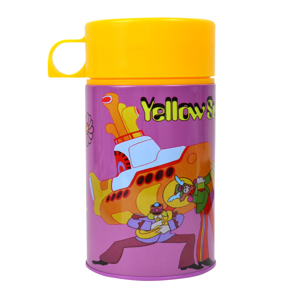 The Beatles 2012 Factory Entertainment Yellow Submarine Retro Lunchbox & Thermos
