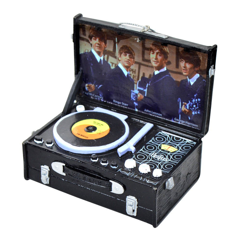 The Beatles Retro Black Record Player 3-Inch Ornament