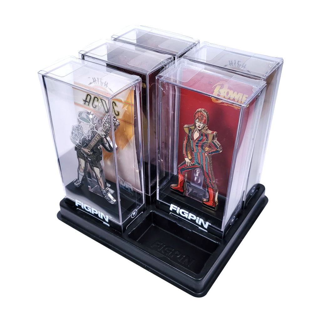 FiGPiN Collectors Retail Display Case - Holds 6 FiGPiNs (AC/DC KISS David Bowie)