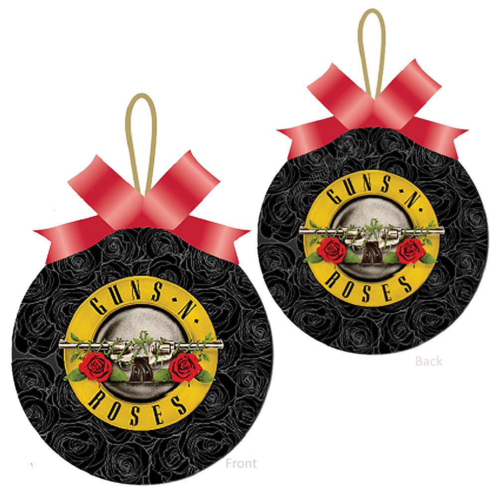 Guns N Roses 2014 GNR Roses & Pistols Logo Christmas Ornament in Gift Box