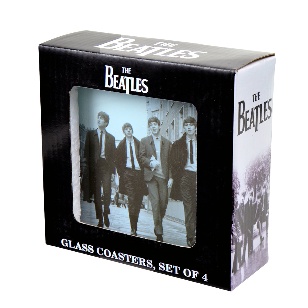 The Beatles Collectible 2014 50th Anniversary Fab Four Glass Coasters Set of 4