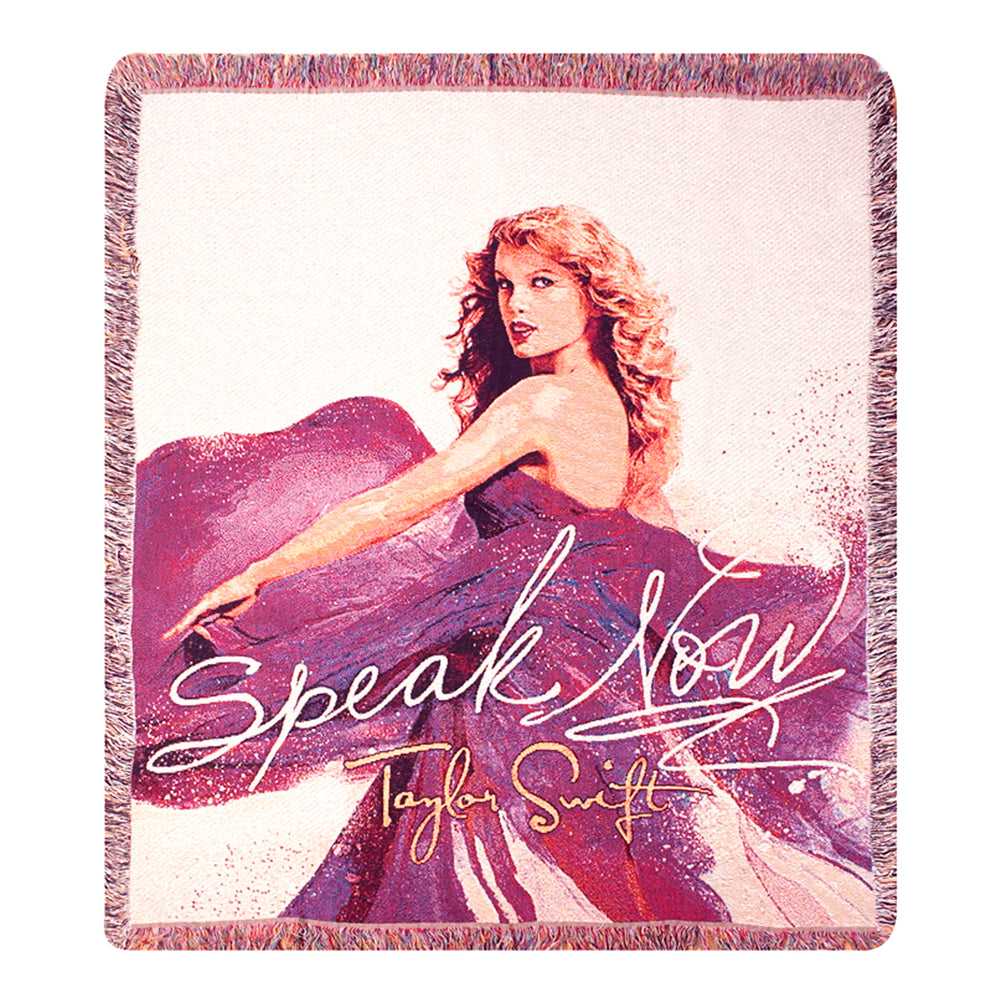 Taylor Swift Rare Collectible: Limited Edition Speak Now Woven Blanket