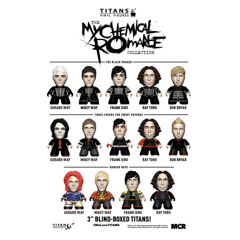 MCR Collection: 2017 TITANS The My Chemical Romance 18 Figure Display Case Set