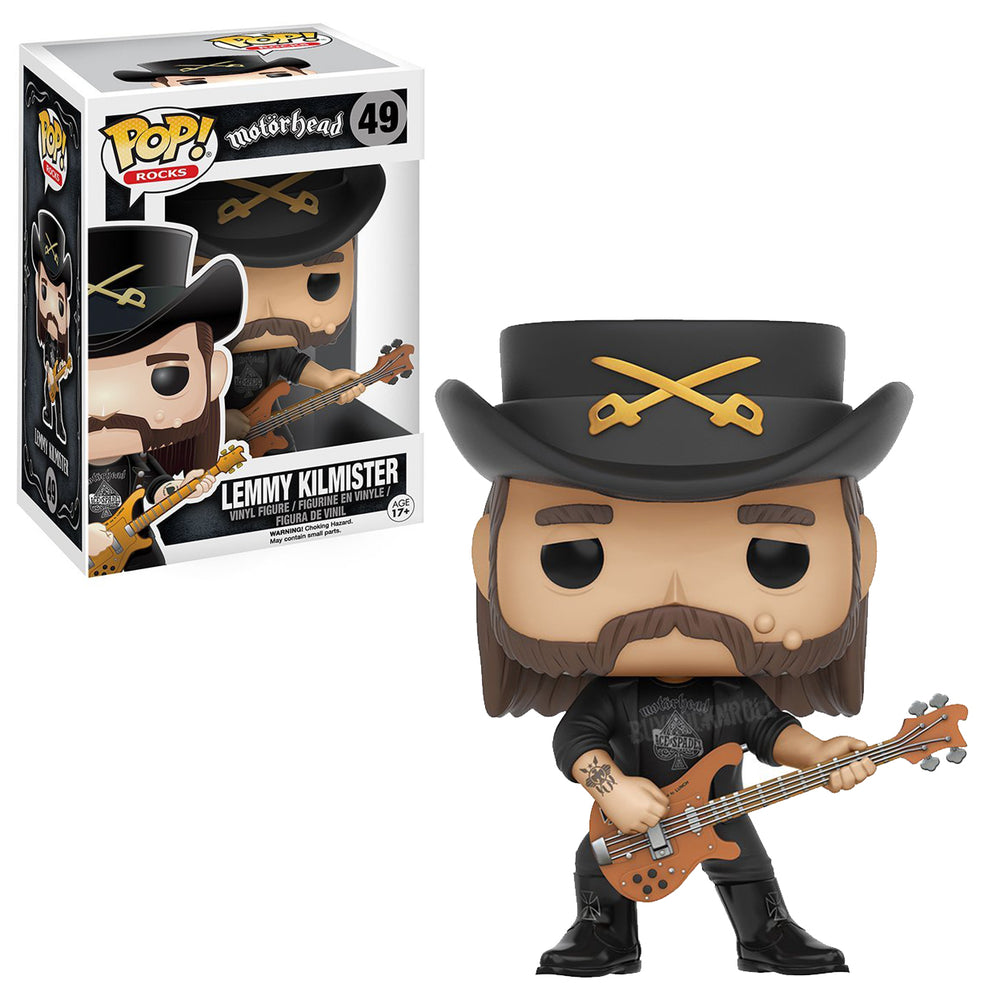 Motorhead Collectible: Hand Picked 2016 Funko Lemmy Kilmister Pop! Rocks Figure
