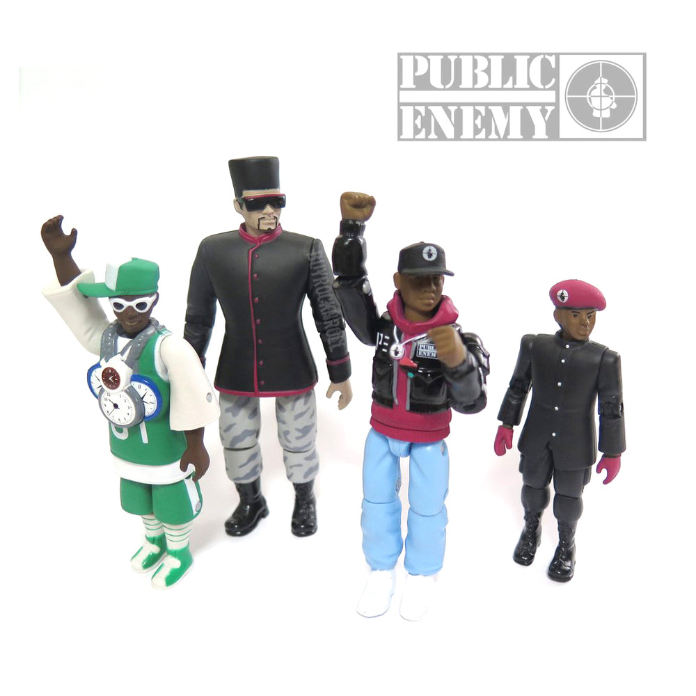 Public Enemy Collectibles: 2016 Press Pop Flavor Flav Chuck D Figure Set of 4