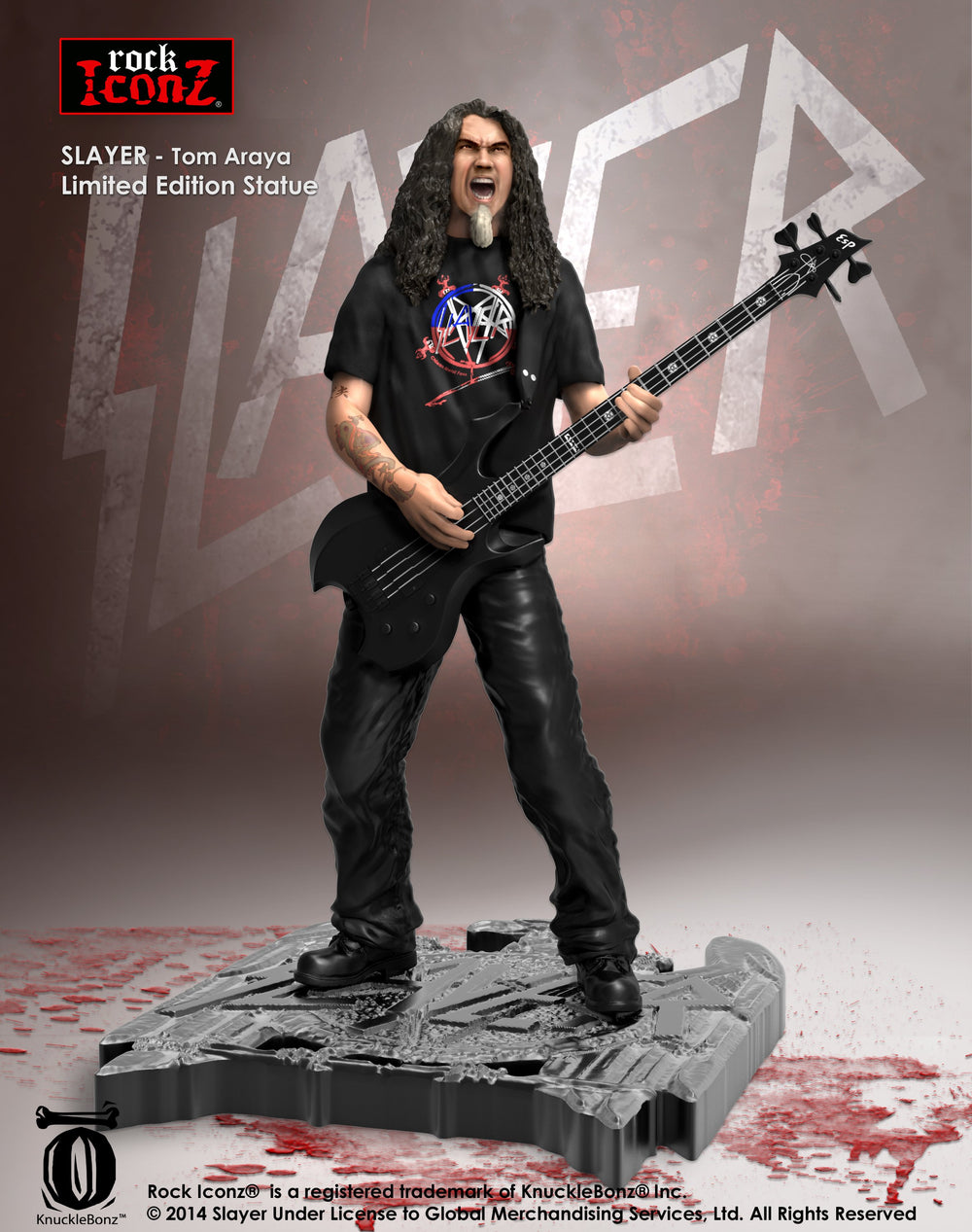 Slayer Collectible 2014 Knucklebonz Rock Iconz Limited Edition Tom Araya Statue #367/1000
