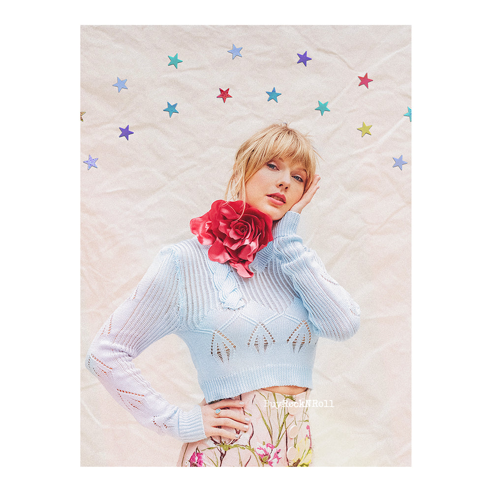 Taylor Swift Collectible Limited Edition ME Lithograph With Stars (Poster Photo)