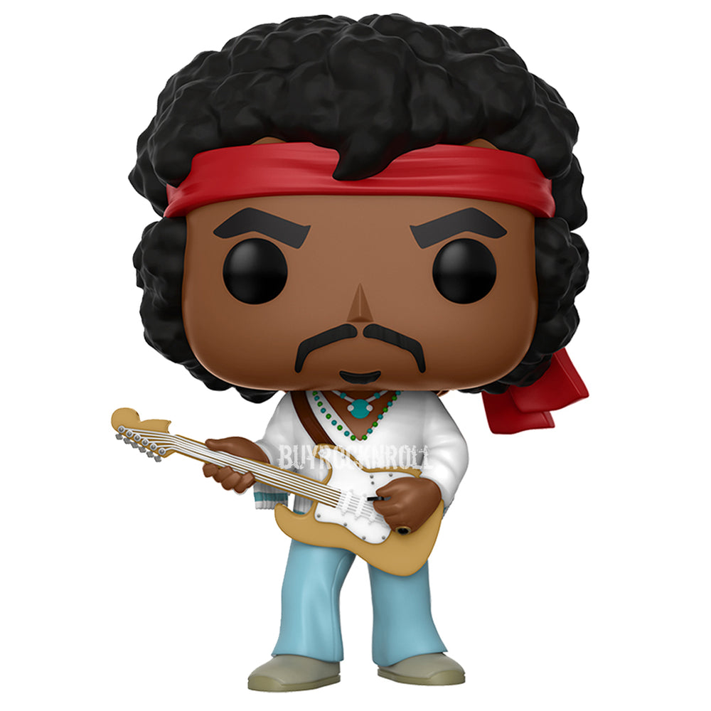 Jimi Hendrix 2017 Funko POP! Rocks Woodstock Figure #54 in Stacks Display Case