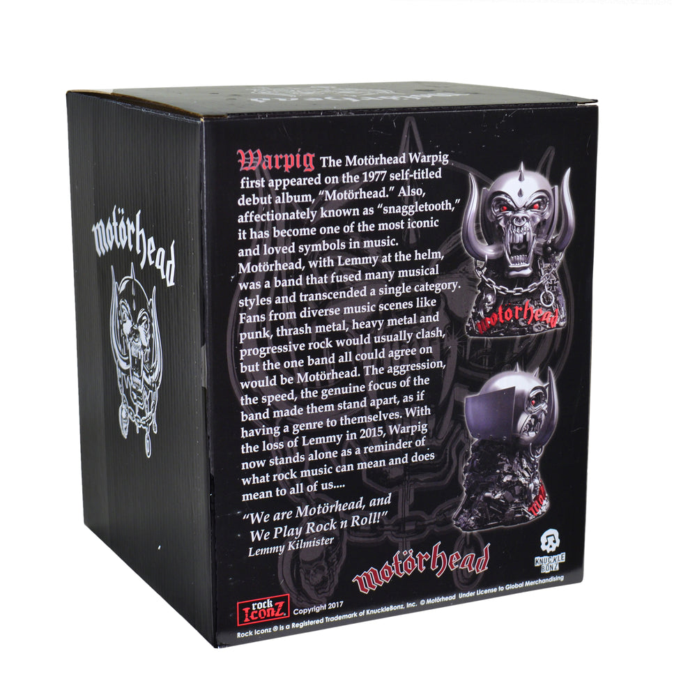 Motorhead Collectible: 2017 KnuckleBonz Rock Iconz Warpig Statue Figure #42