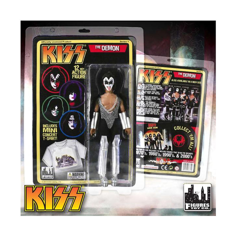 "KISS Collectibles: 2011 Figures Toy Company Love Gun Series 1 Retro 12"" Doll Set"