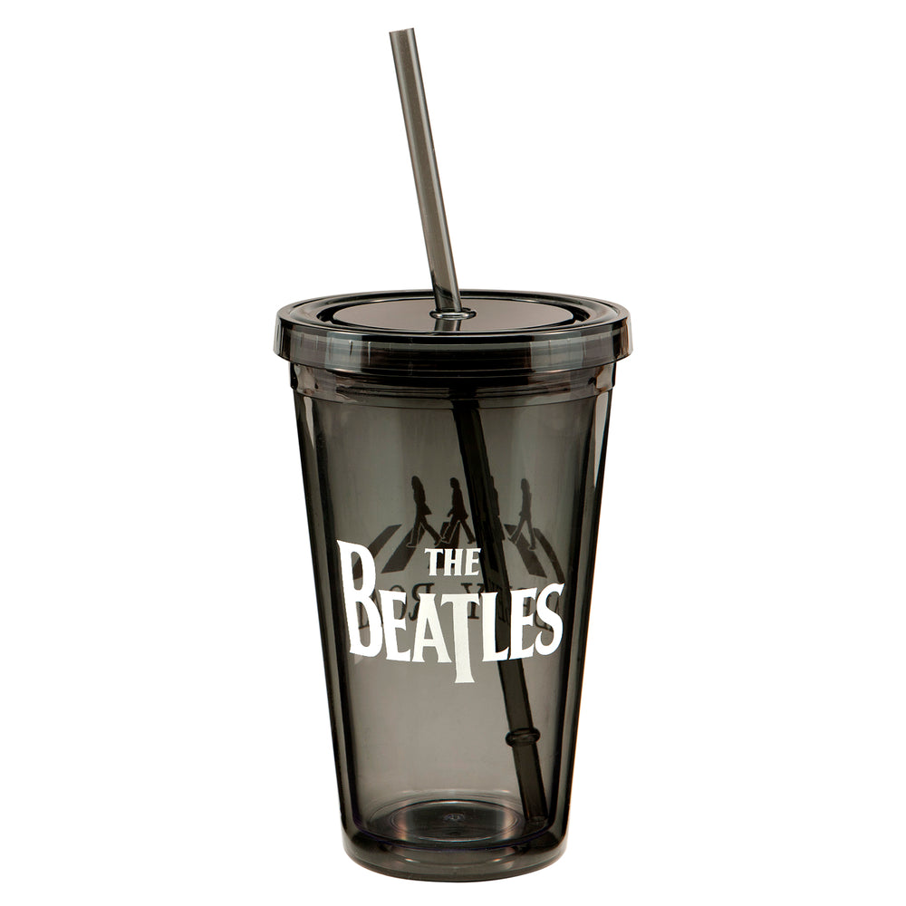 The Beatles 2012 Vandor Fab Four Figures Abbey Road Insulated 18 oz Travel Cup