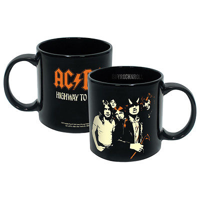 AC/DC Collectible ICUP 2016 Angus Malcolm Young Band Figures Highway to Hell Mug