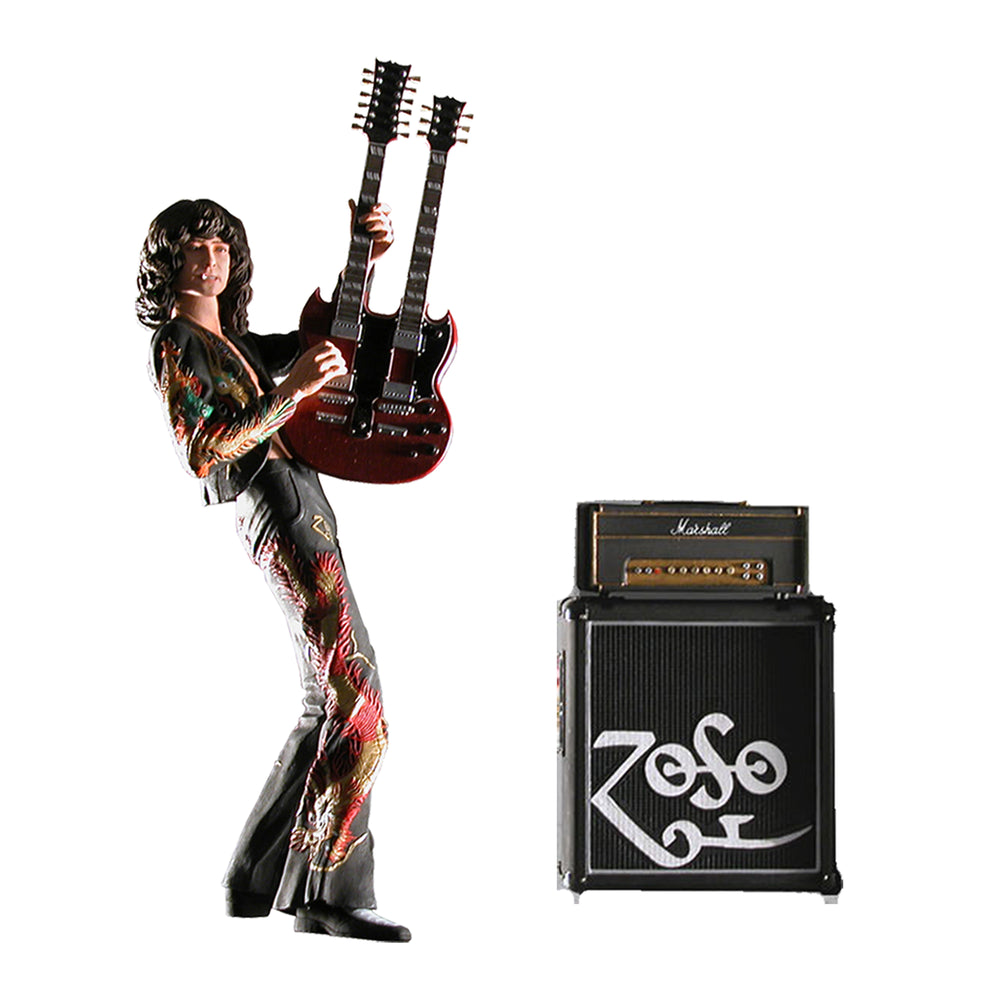 "Led Zeppelin Collectible: NECA 2006 Jimmy Page Dragon Suite 7"" ZOSO Figure"