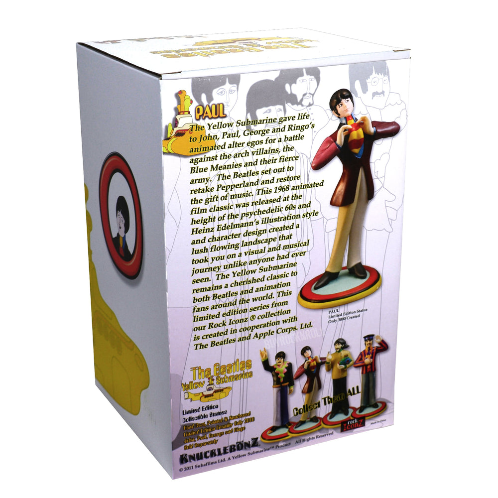 Beatles Collectible: 2011 Knucklebonz Yellow Submarine Rock Iconz Paul McCartney Statue SOLD OUT!
