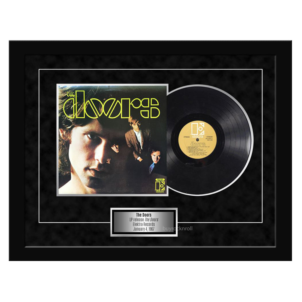 "The Doors Collectible Framed LP & Cover 1967 ""The Doors"" Album 27x21"
