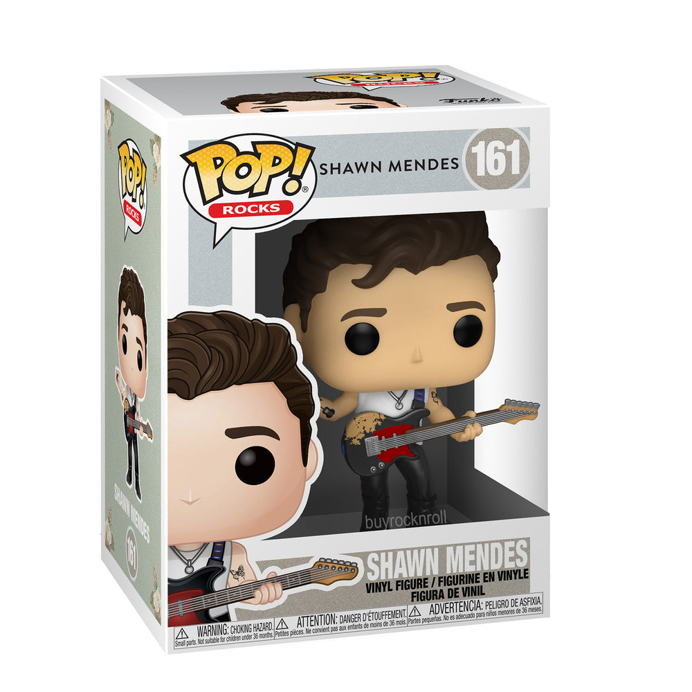 Shawn Mendes Collectible Handpicked 2020 Funko Pop! Rocks Figure #161 in Protector
