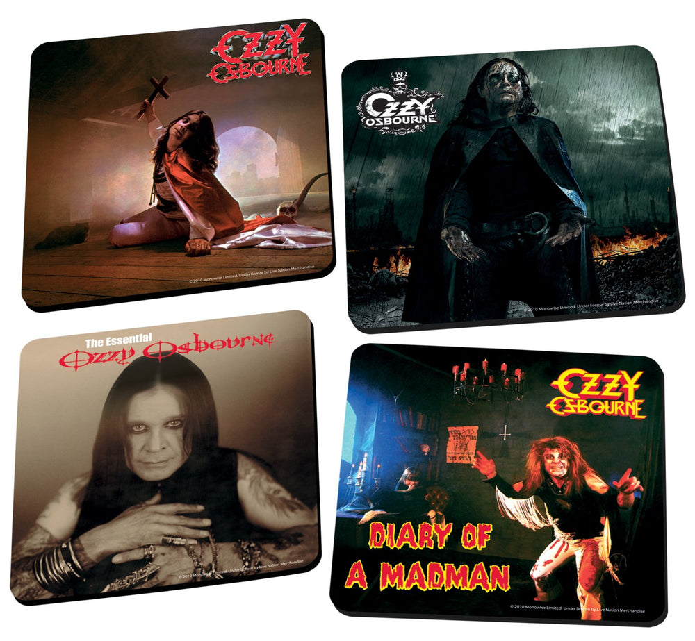 Ozzy Osbourne Collectible 2011 Vandor Iconic Figure Wood Coaster Set