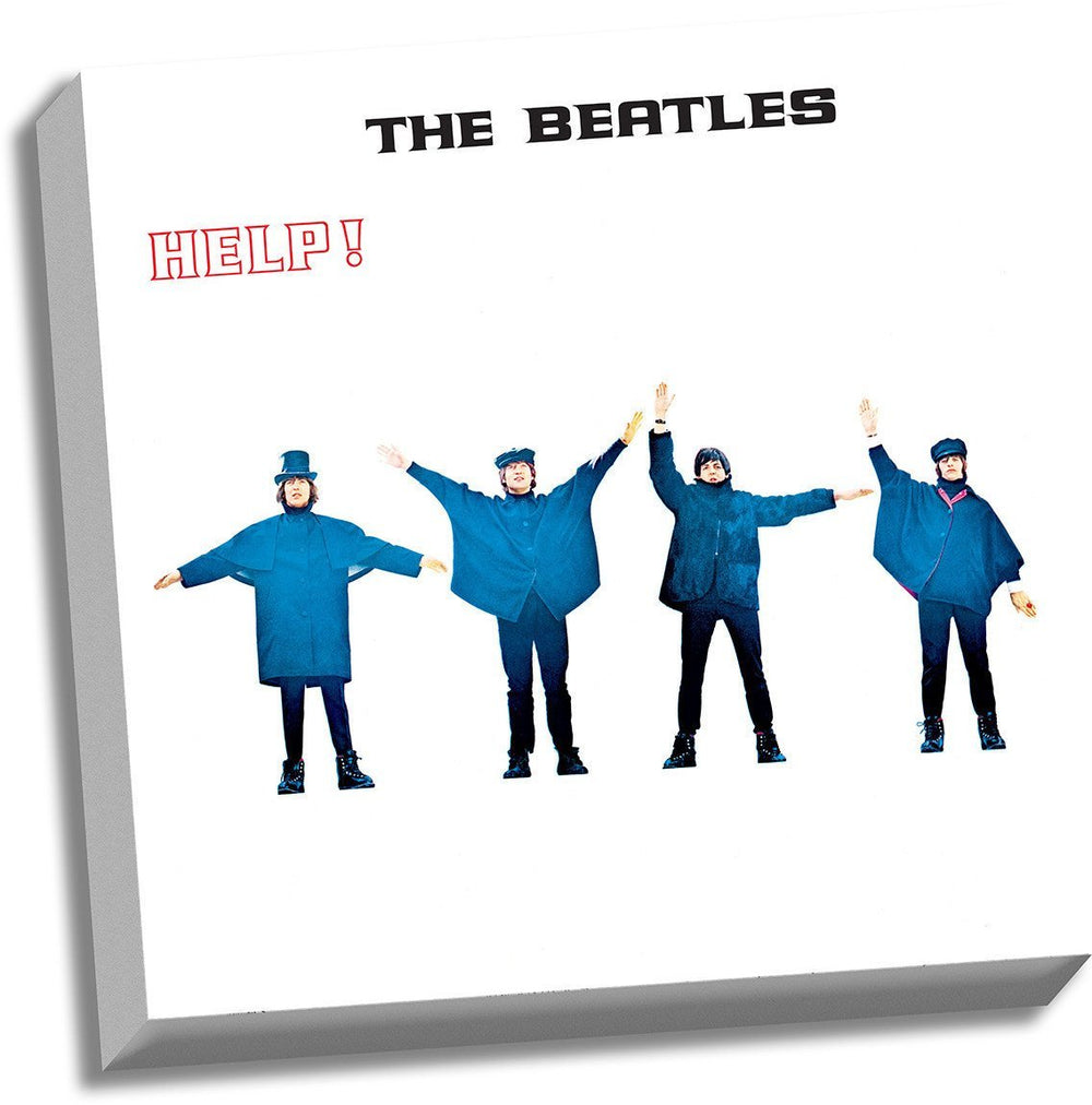 Beatles Collectors - HELP! Album Cover Stretched Canvas 20 x 20 Wall Art