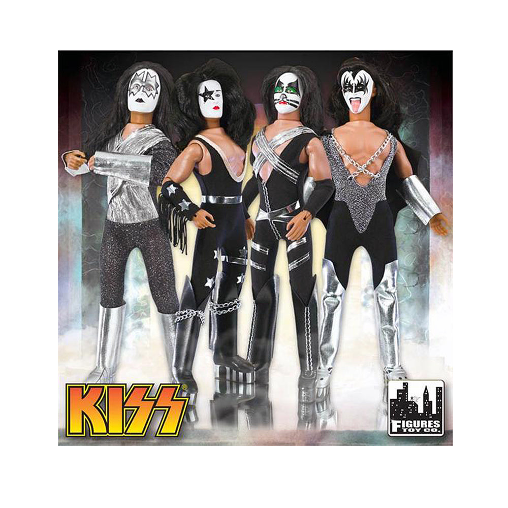 "KISS 2011 Figures Toy Company Love Gun Series 1 Paul Stanley Starchild 12"" Retro Mego Doll In Protective Display Case"