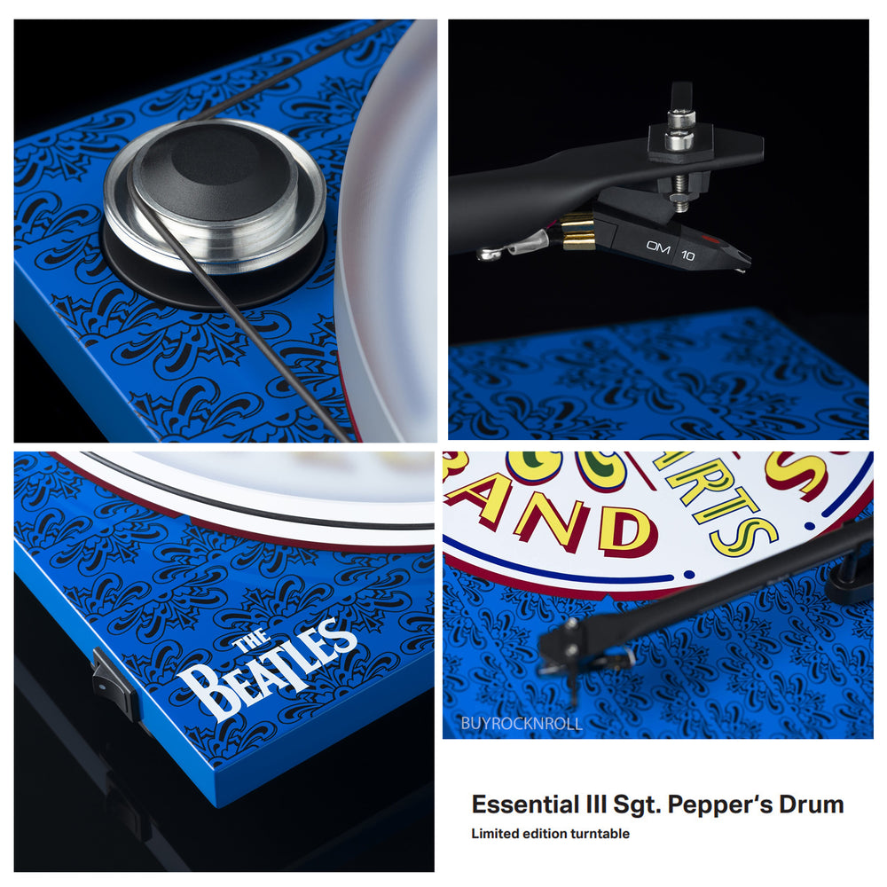 Beatles Collectible 2017 Pro-ject Essential III SGT Peppers Turntable with  Ortofon OM-10