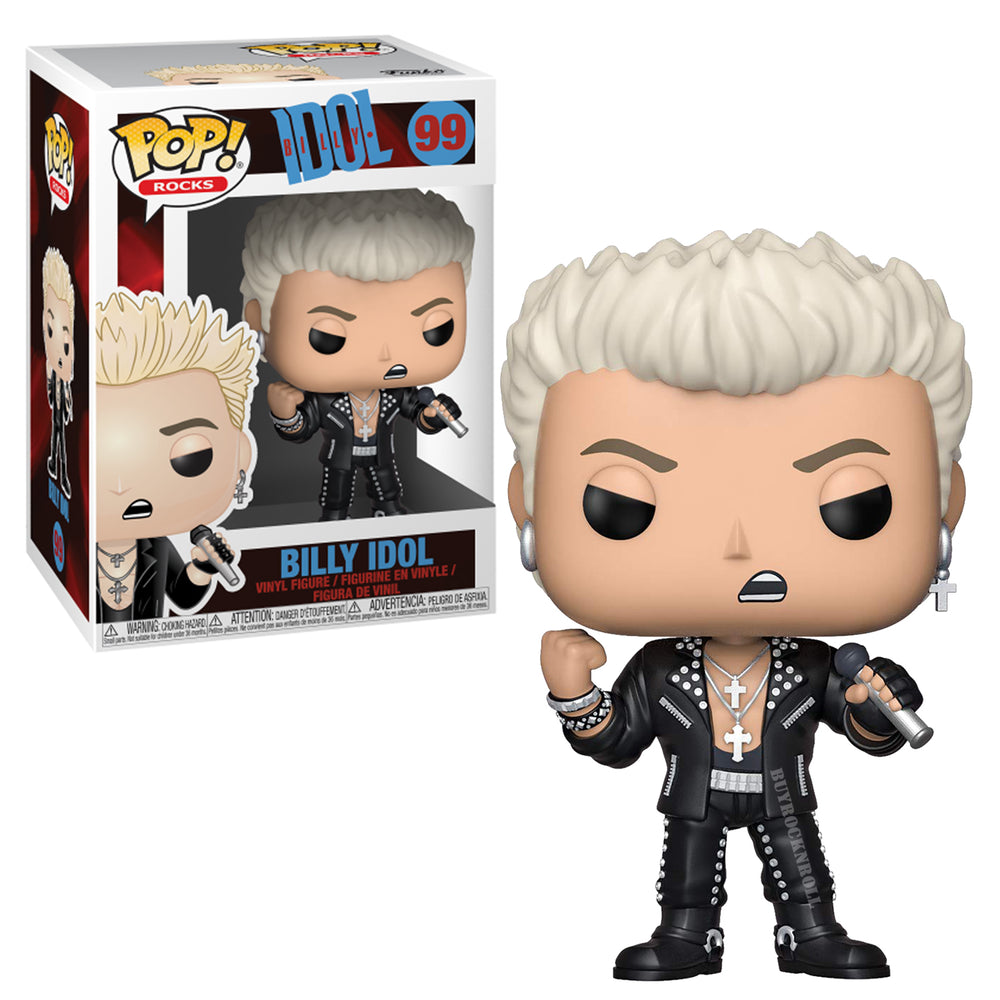 Billy Idol Collectible: Funko Pop! Rocks Handpicked Figure in Protector Case