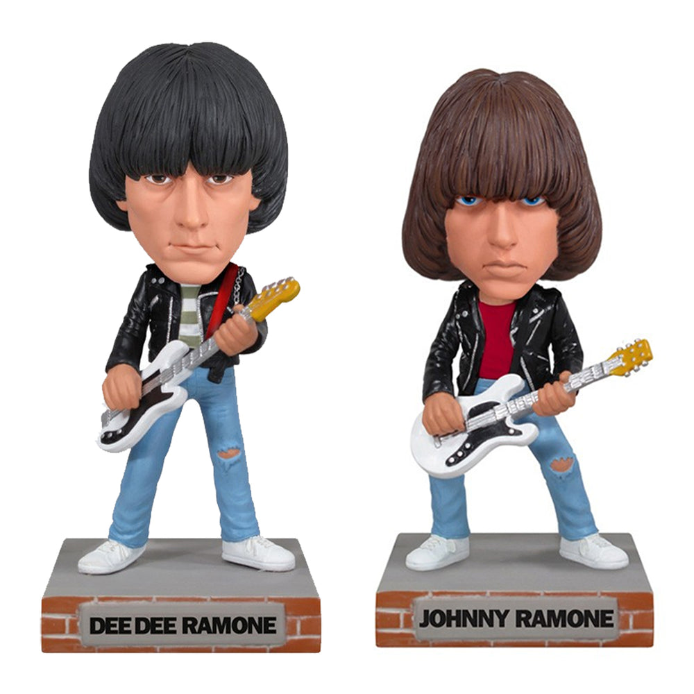 Ramones Collectibles: 2010 Funko Johnny Dee Dee Wacky Wobbler Set (Bobble Heads)