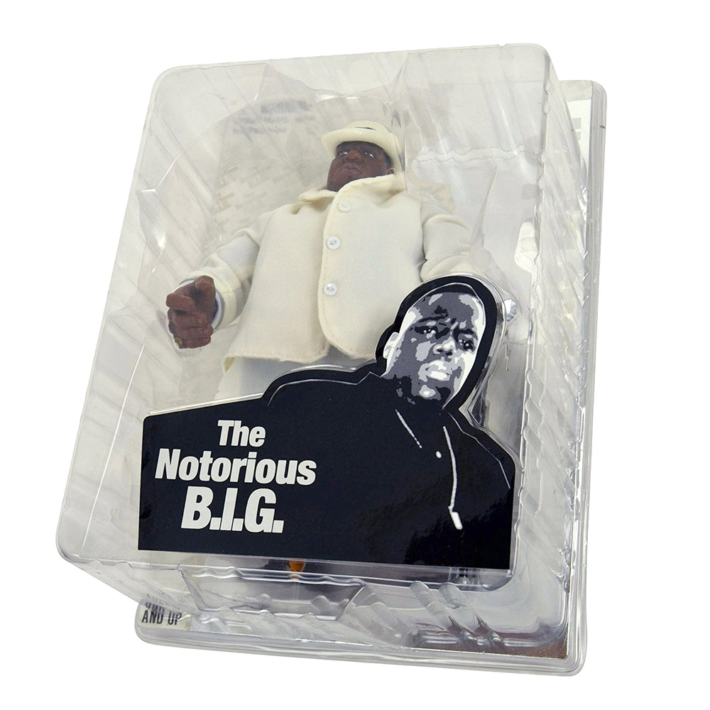 "Notorious B.I.G Collectible 2006 Mezco Biggie Smalls White Suit 9"" Figure"