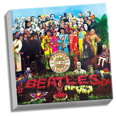 Beatles Collectible Sgt Pepper Album Cover Stretched Canvas Wall Art 20x20