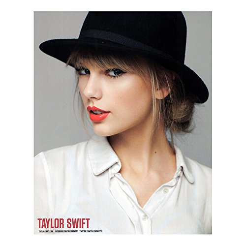 Taylor Swift Rare Collectible: 2012 Red Tour Black Hat 8x10 Photograph