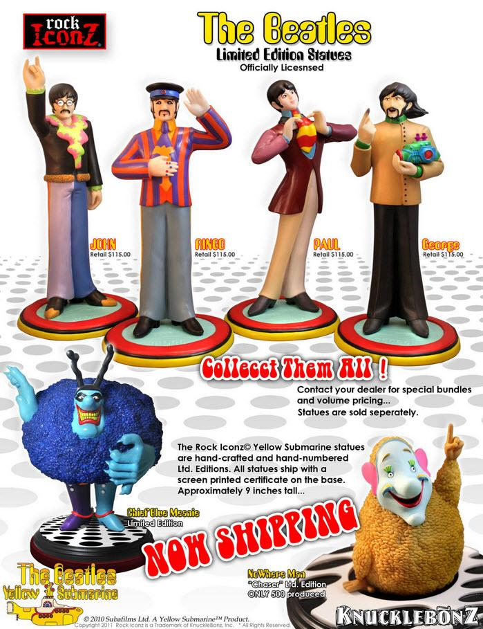 The Beatles Collectible 2011 Knucklebonz Rock Iconz Yellow Submarine John Lennon Statue