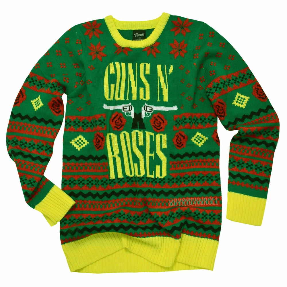 Guns N Roses Collectible 2016 Bravado GNR Big Guns Ugly Christmas Sweater M