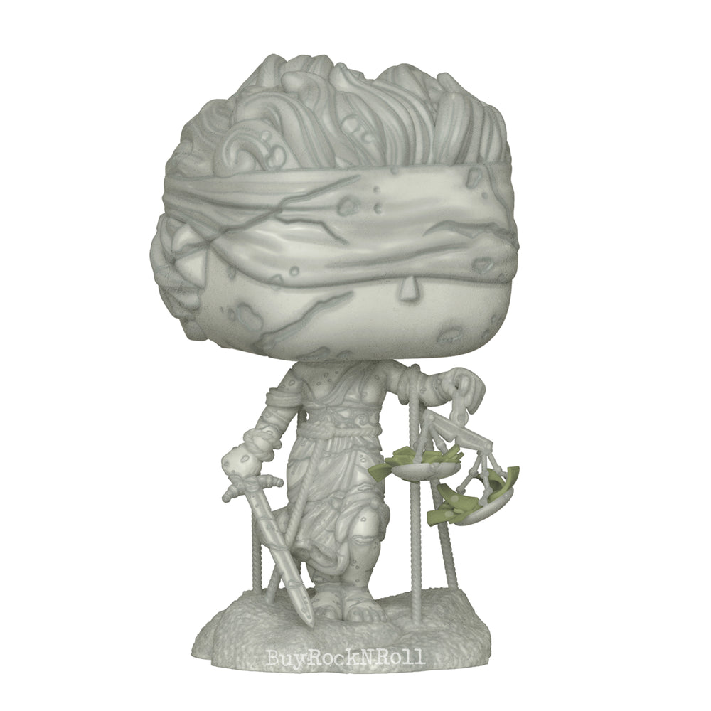 Metallica Collectible: Handpicked 2018 Funko POP Rocks Lady Justice Vinyl Figure in Display Case
