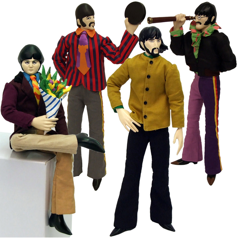 "The Beatles 2013 Factory Entertainment Yellow Submarine Band Members 12"" Figures Set of 4"