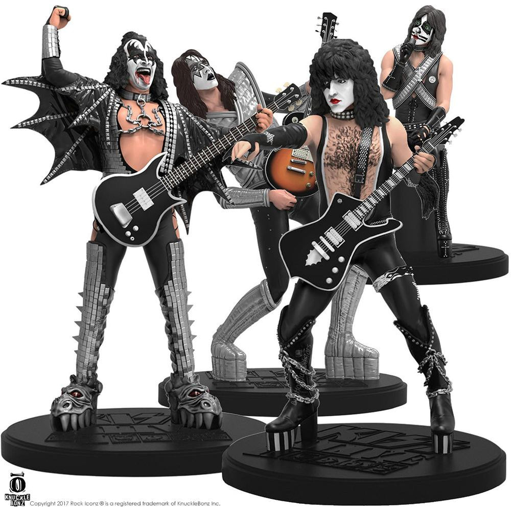 KISS Collectible 2016 KnuckleBonz Rock Iconz Alive II Band Members Statue Set