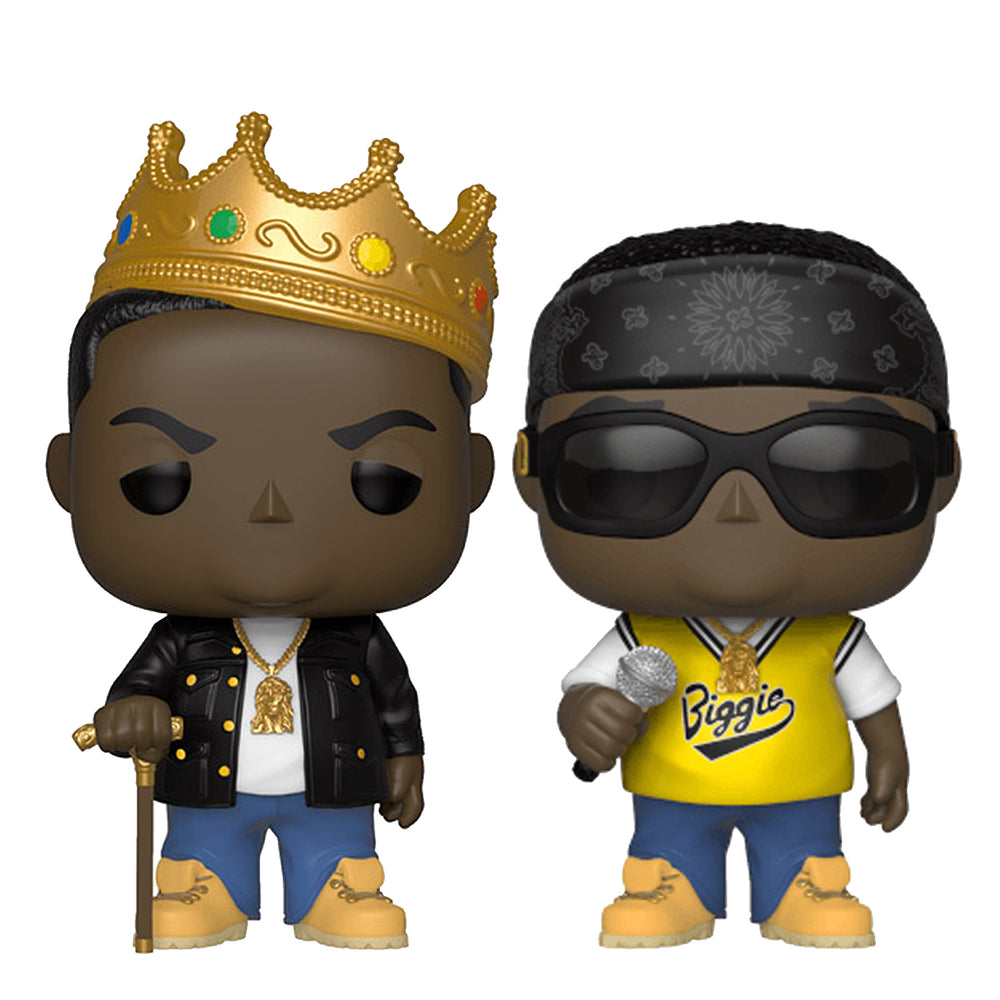 Notorious B.I.G. Handpicked 2018 Funko Pop Rocks Biggie Figures in Display Cases