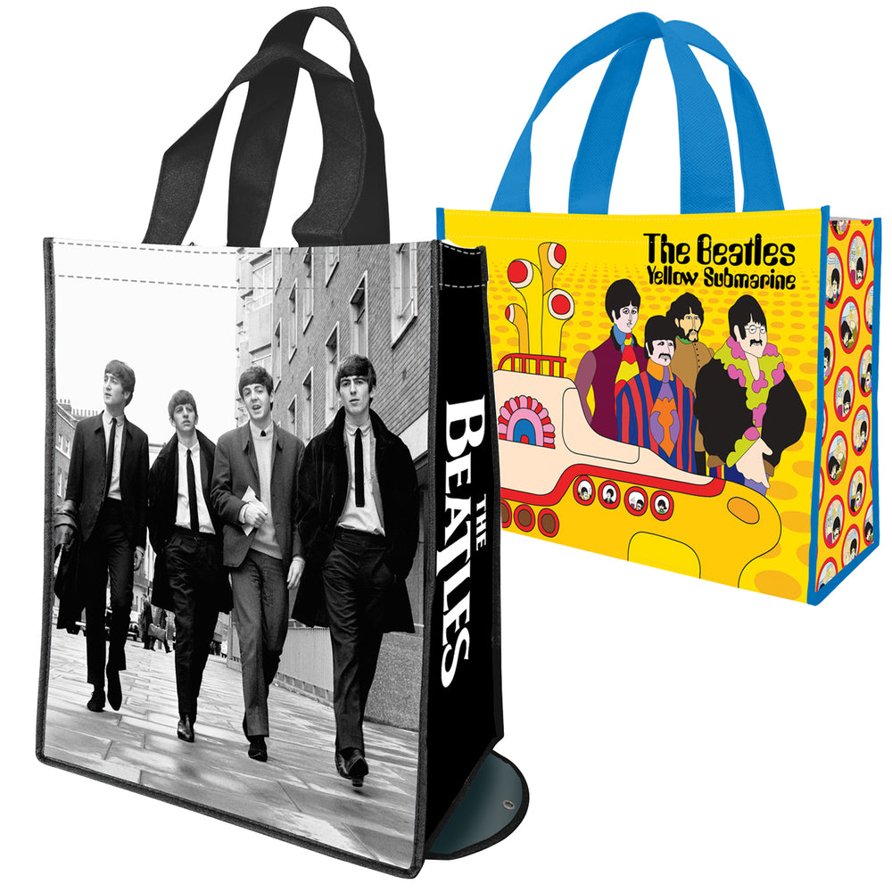 Beatles Collectibles: 2015 Liverpool Packable Tote & Yellow Submarine Tote Bags