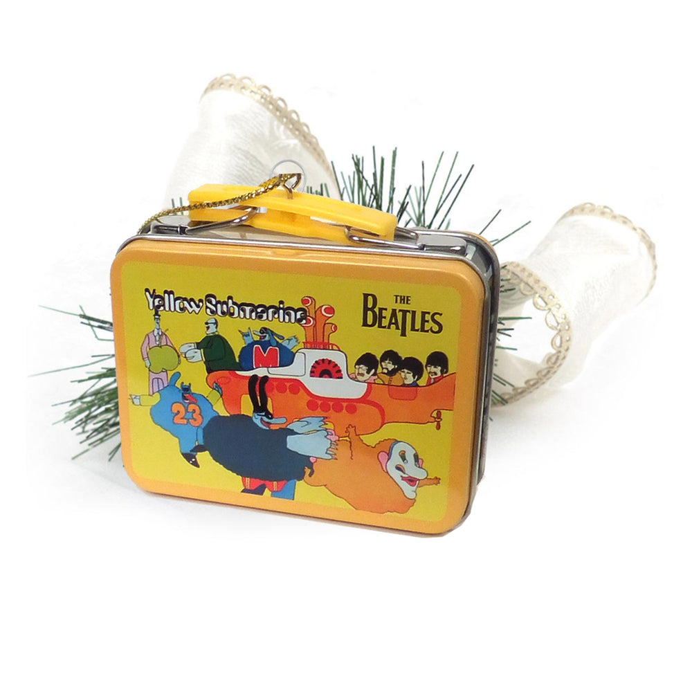 Beatles Collectibles: 2012 Kurt Adler Miniature Aladdin Lunch Box Xmas Ornaments