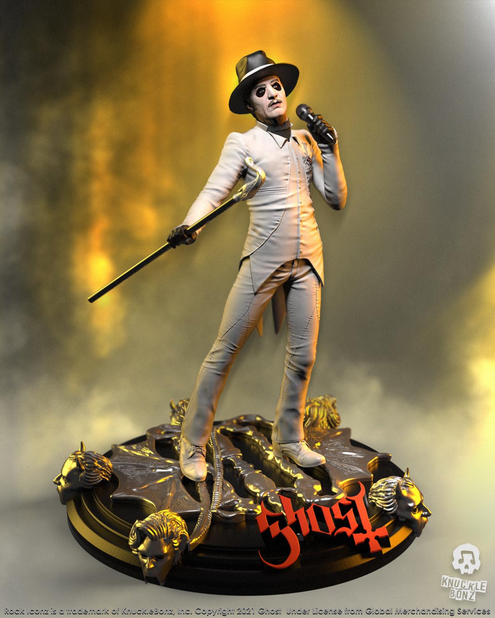 Ghost Collectible 2021 KnuckleBonz Rock Iconz Statue Cardinal Copia White Tuxedo -Variant