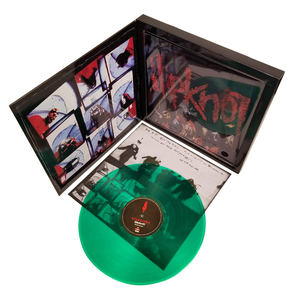 Slipknot 2009 Road Runner Records Green Vinyl LP Album & Tee Shirt Box Set - LG
