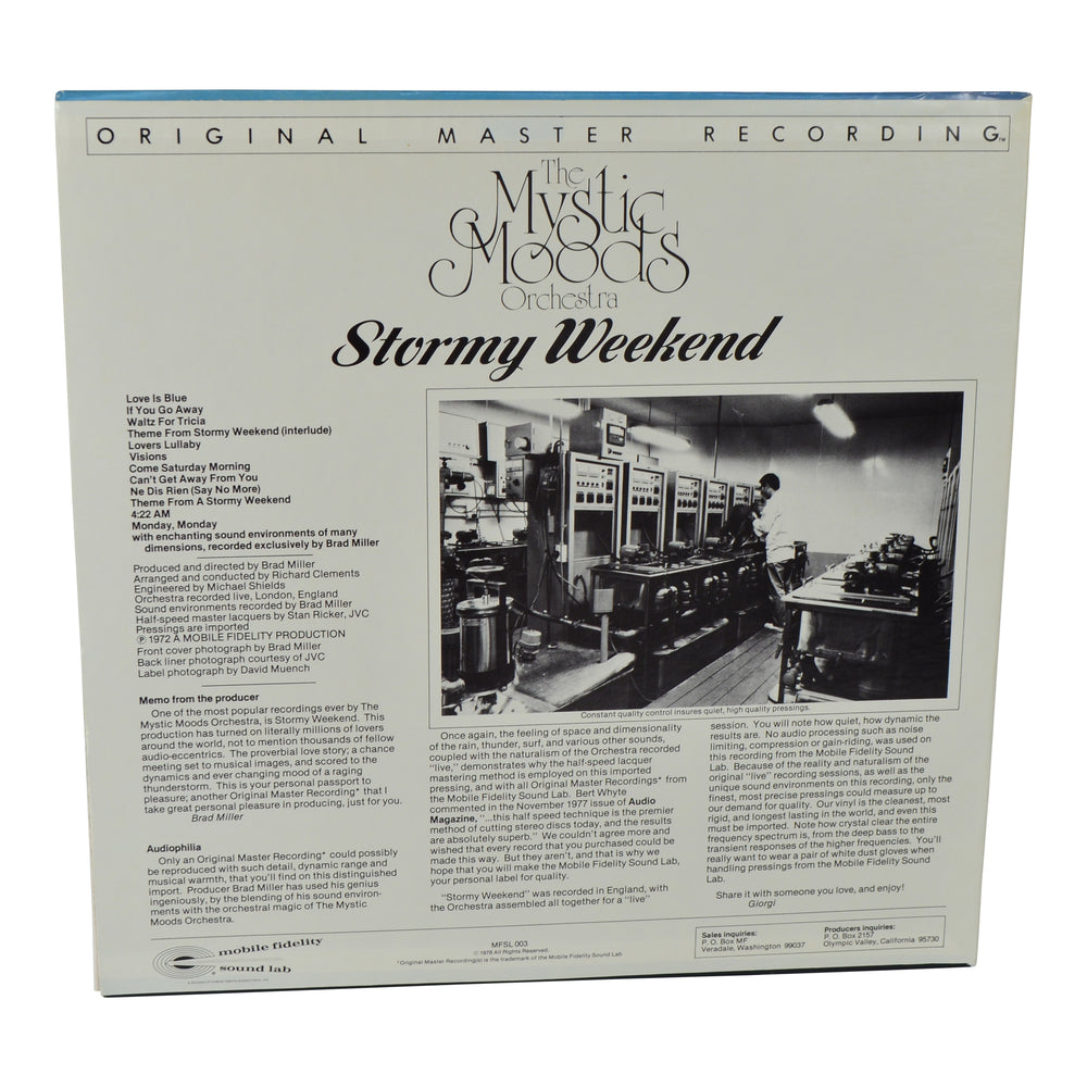 MFSL Collectors: 1978 Mobile Fidelity The Mystic Moods Orchestra Stormy Weekend LP #1-003