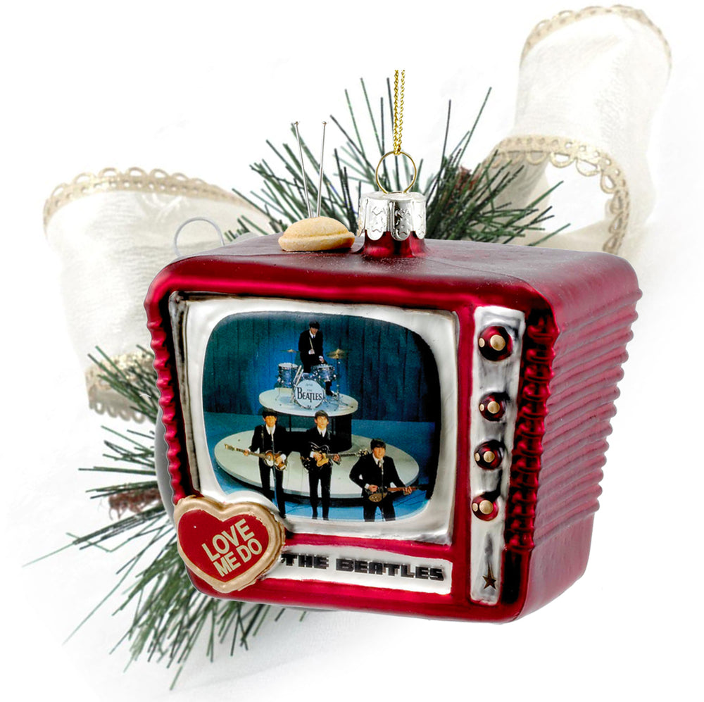 "Beatles Collectible: 2015 Kurt Adler ""Love Me Do"" Retro Television Christmas Ornament"