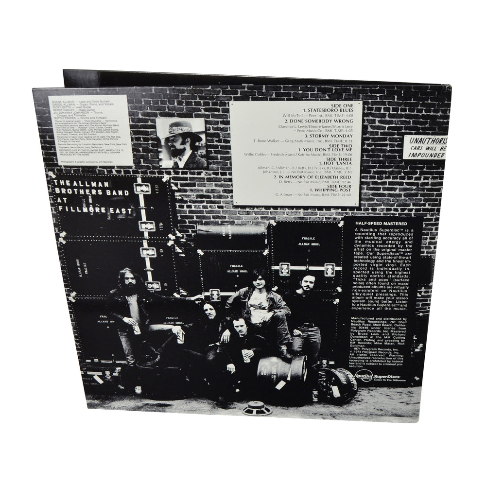 Nautilus SuperDiscs LP: 1982 The Allman Brothers Band At Fillmore East NR 30