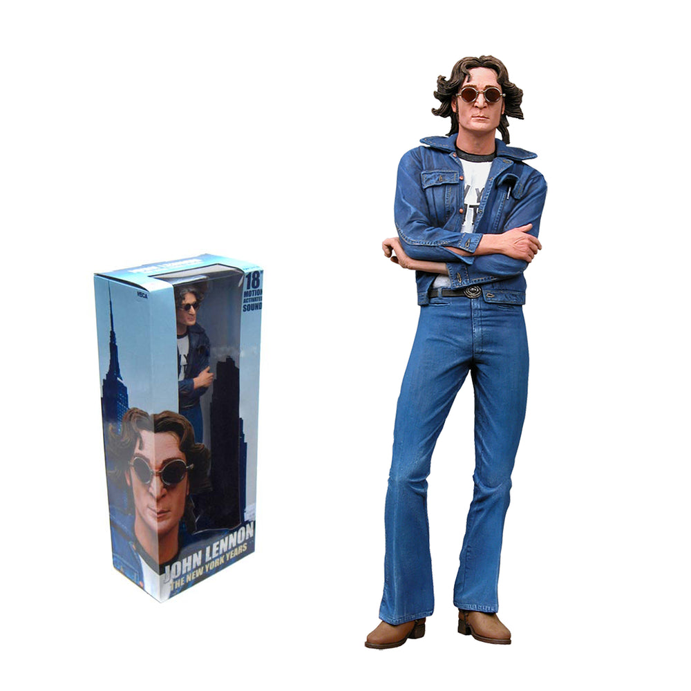 The Beatles Collectible 2006 NECA John Lennon New York City Years 18-inch Talking Figure