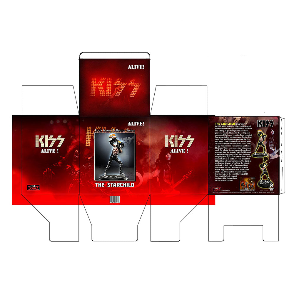 KISS 2018 KnuckleBonz Rock Iconz Alive Paul Stanley Starchild Statue